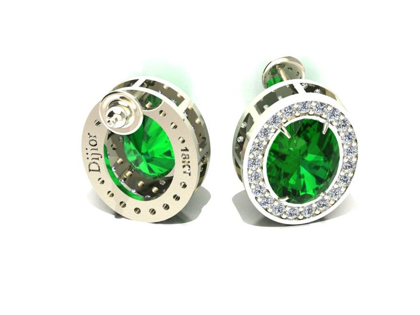4ac89f3b708bb Brinco Green Light Jades e Diamantes em ouro 18k Dijior Joias