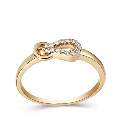 Anel Nó com Diamantes em Ouro 18k