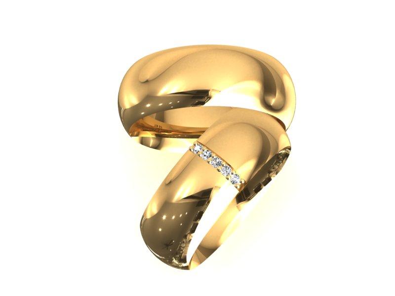 Alian�a Barra de Noivado e Casamento em Ouro 18k