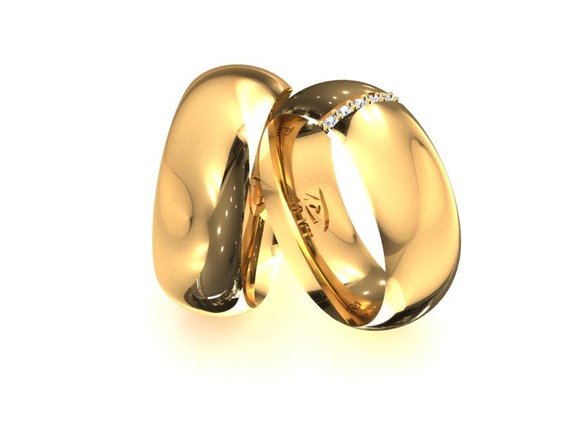 Aliança Barra de Noivado e Casamento em Ouro 18k