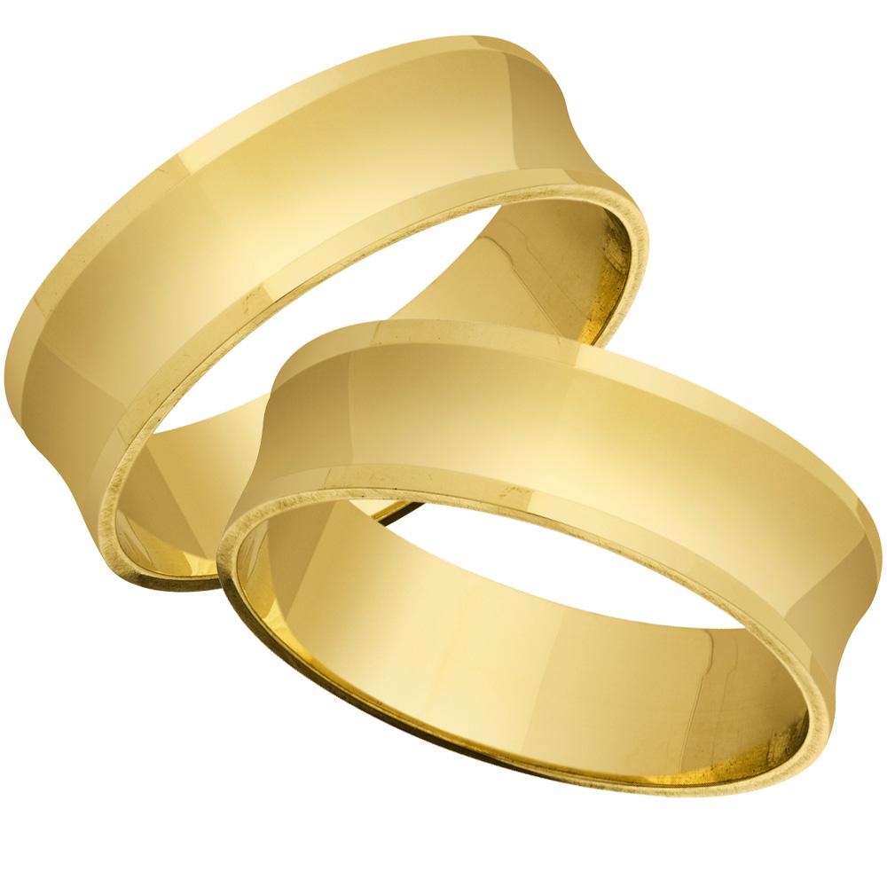 Aliança Casamento Quadradas
