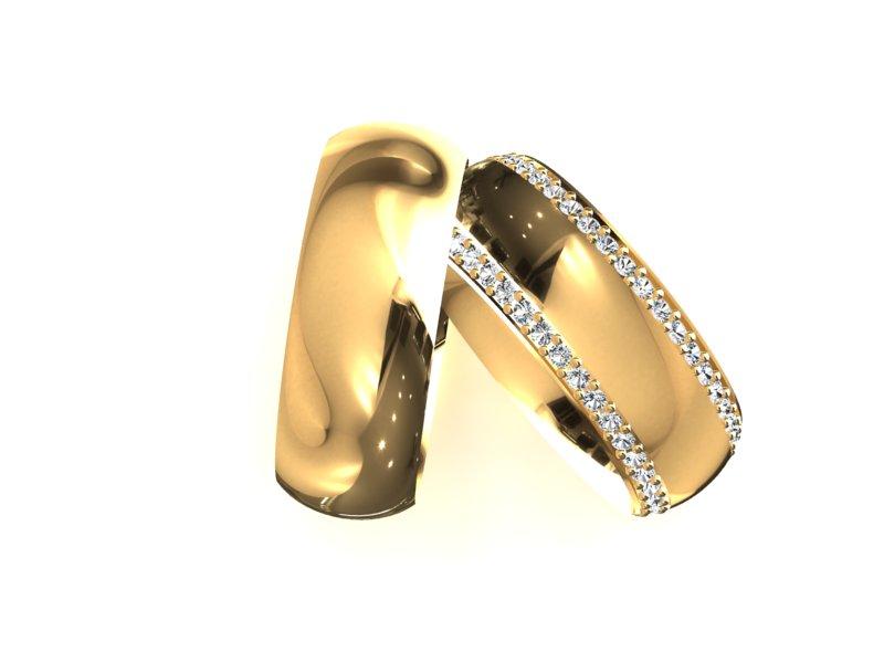 Alian�a Cube Casamento ou Noivado em Ouro