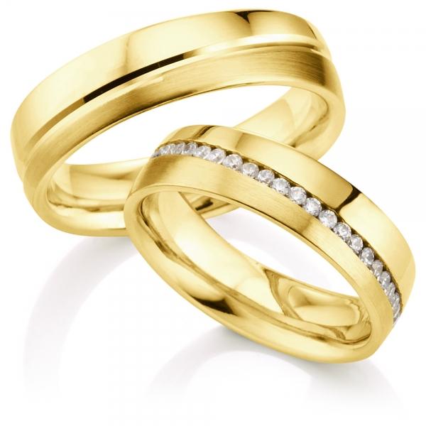 Aliança de Casamento Amarelo Centro