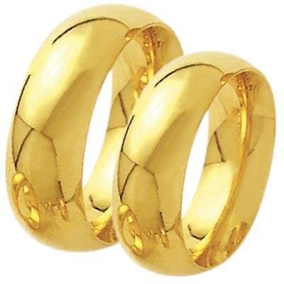 Alian�a de Casamento Anat�mica em ouro 18k