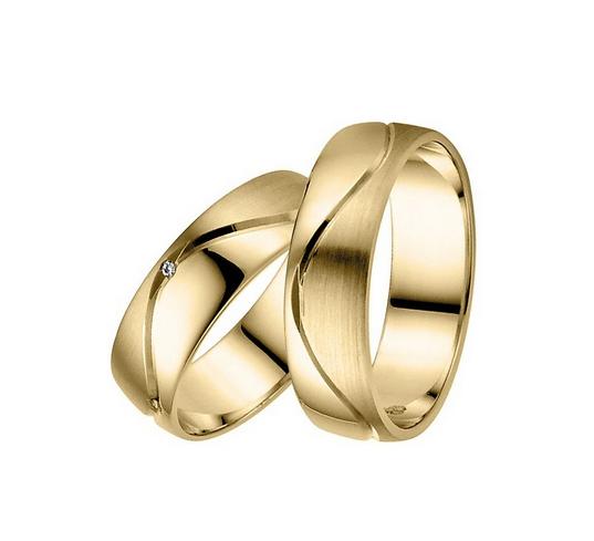 Aliança de Casamento e Noivado Com Curvas
