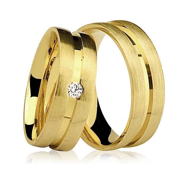 Alian�a de Casamento Farol Brilhante em Ouro 18