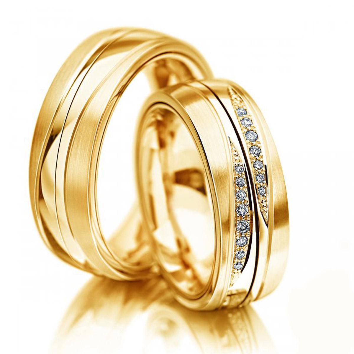 Aliança de Casamento Join em Ouro Amarelo