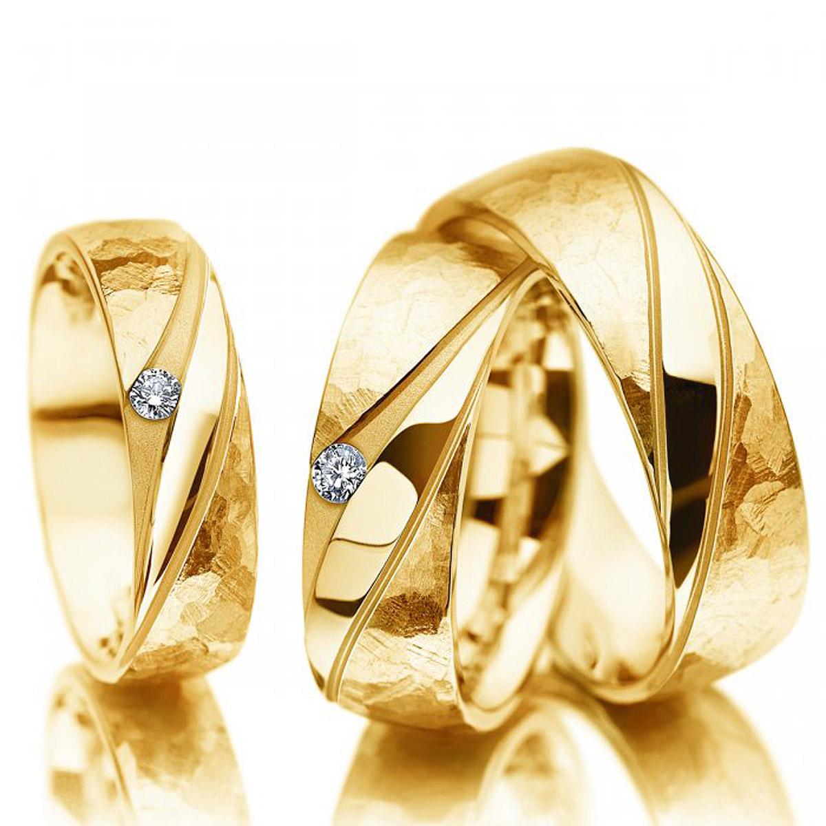 Aliança de Casamento Tec em Ouro 18k Amarelo