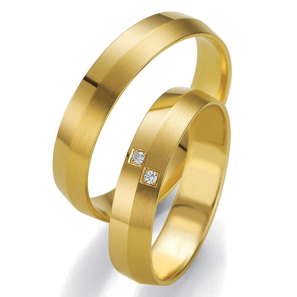 Alian�a de Noivado Divide Tri�ngulo em Ouro com duas Pedras