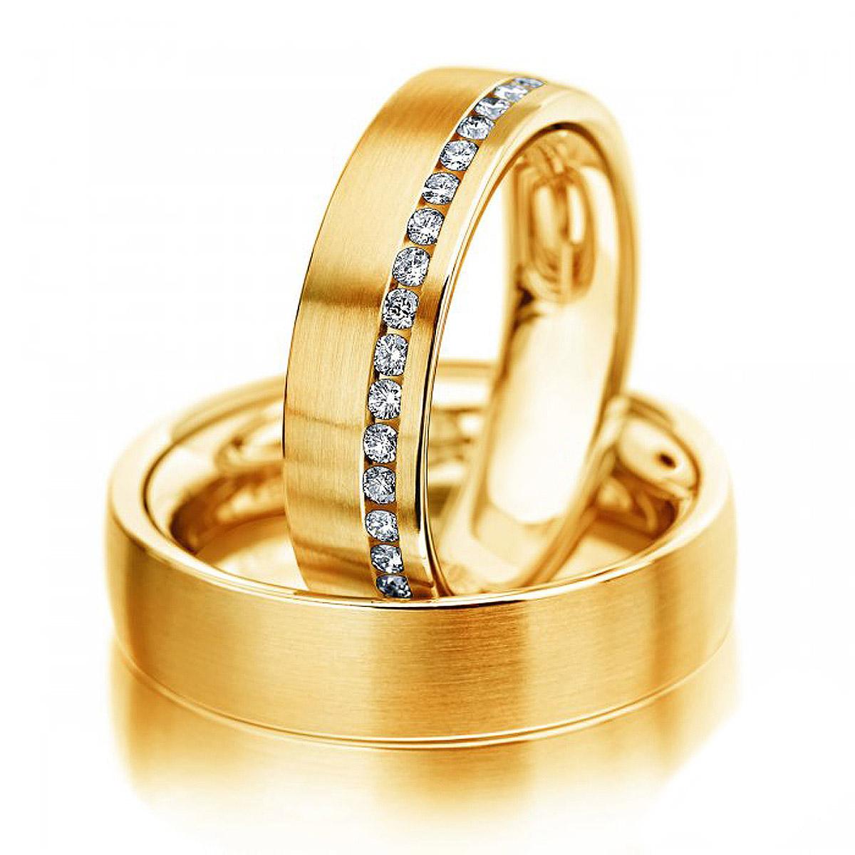 Aliança de Noivado e Casamento Curitiba Ouro 18k