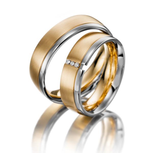 Aliança de Noivado e Casamento Dividida