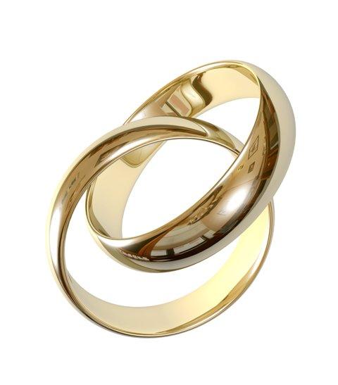 Aliança de Noivado e Casamento Tradicional Pronta em Ouro 18k