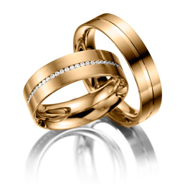 Alian�a Paran� Noivado em Ouro Rose 18k com Diamantes