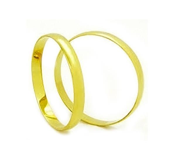 Aliança de Noivado ou Casamento Fine Cut em ouro 18k