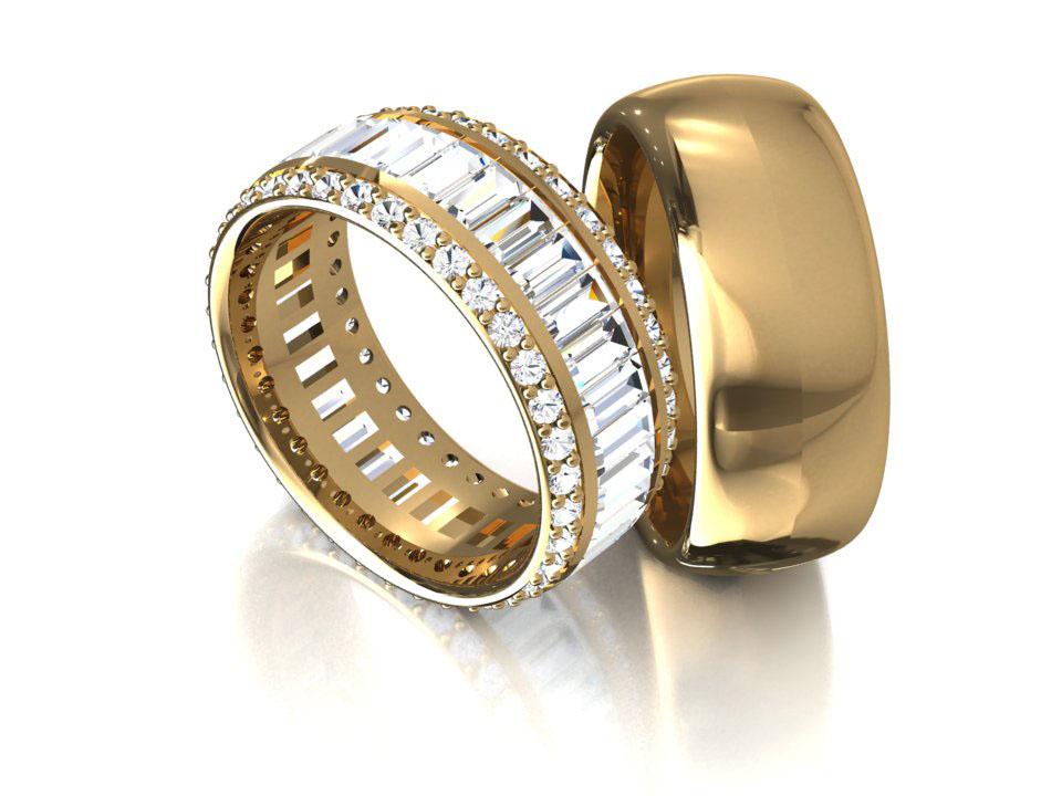Aliança em Ouro Evolute de Noivado e Casamento