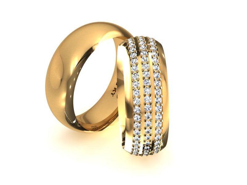 Alian�a em Ouro Tree Carre com Diamantes