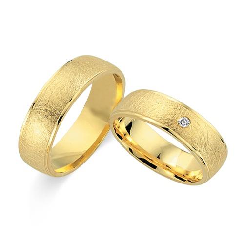 Aliança Fosca Trabalhada de Noivado e Casamento