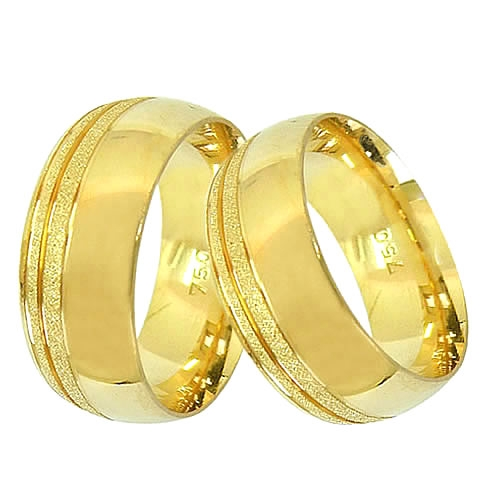 Aliança Lateral Larga Trabalhada de Casamento e Noivado