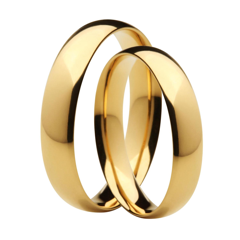 Aliança Lisa de Casamento e Noivado em Ouro