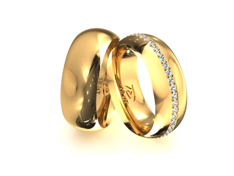 Aliança Person Central de Noivado e Casamento