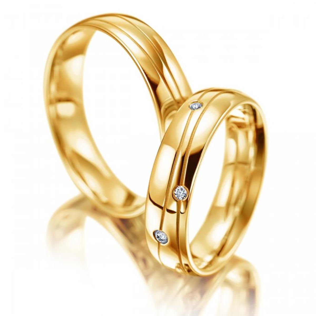 Aliança Pingos de Diamante Casamento ou Noivado