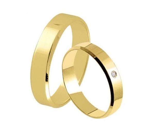 Aliança Rios de Noivado e Casamento em ouro