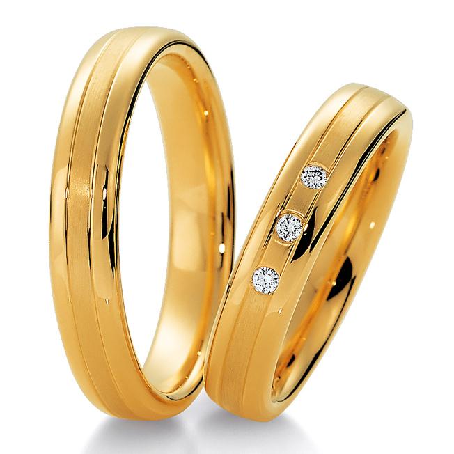 Alian�a Tradicional em Ouro 18k de Noivado e Casamento
