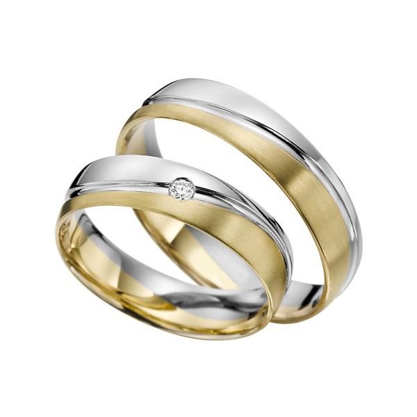 Alian�a Uma pedra de Diamantes em Ouro 18k