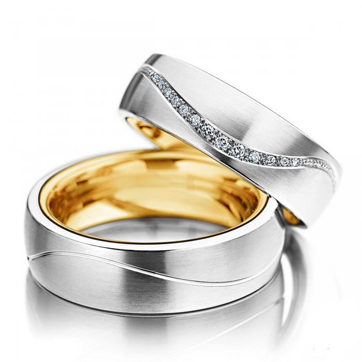 Alian�as de Noivado Eu Quero com Diamantes