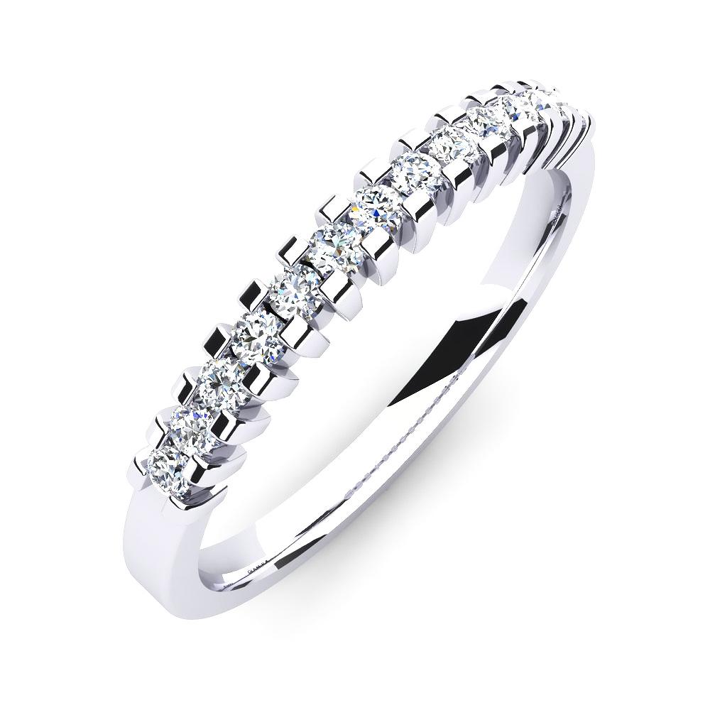 Anel Aparador Quadrado com Diamantes Meio Dedo