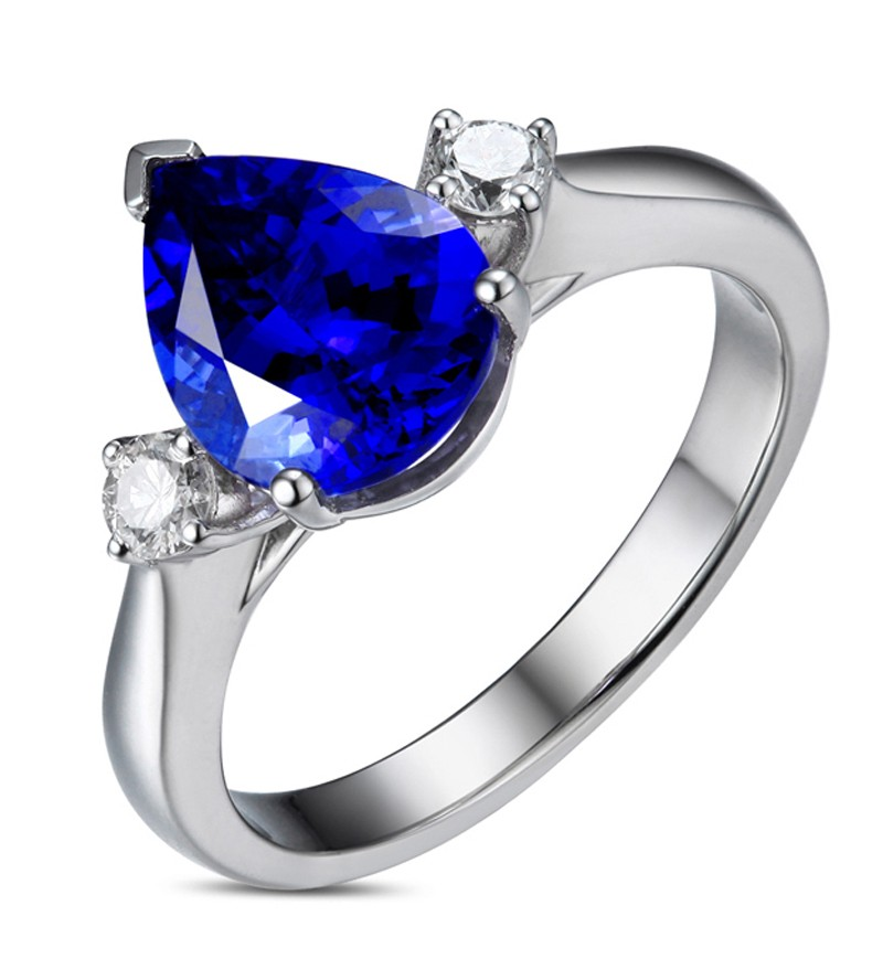 be8300ab7b7b1 Anel Blue Belle Safira em ouro 18k Dijior Joias