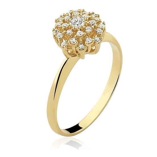 Anel Chuveiro com Diamantes Aro Fino