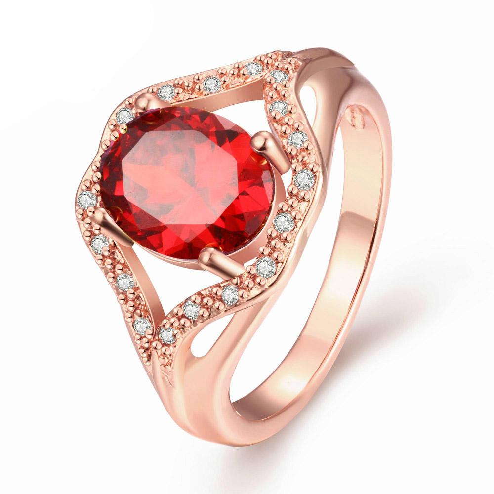 Anel com Diamantes e Rubi de Formatura Casamento ou Noivado