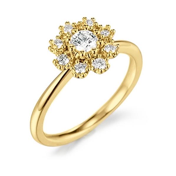 Anel de Formatura Aramado com Diamantes Laterais em ouro 18k