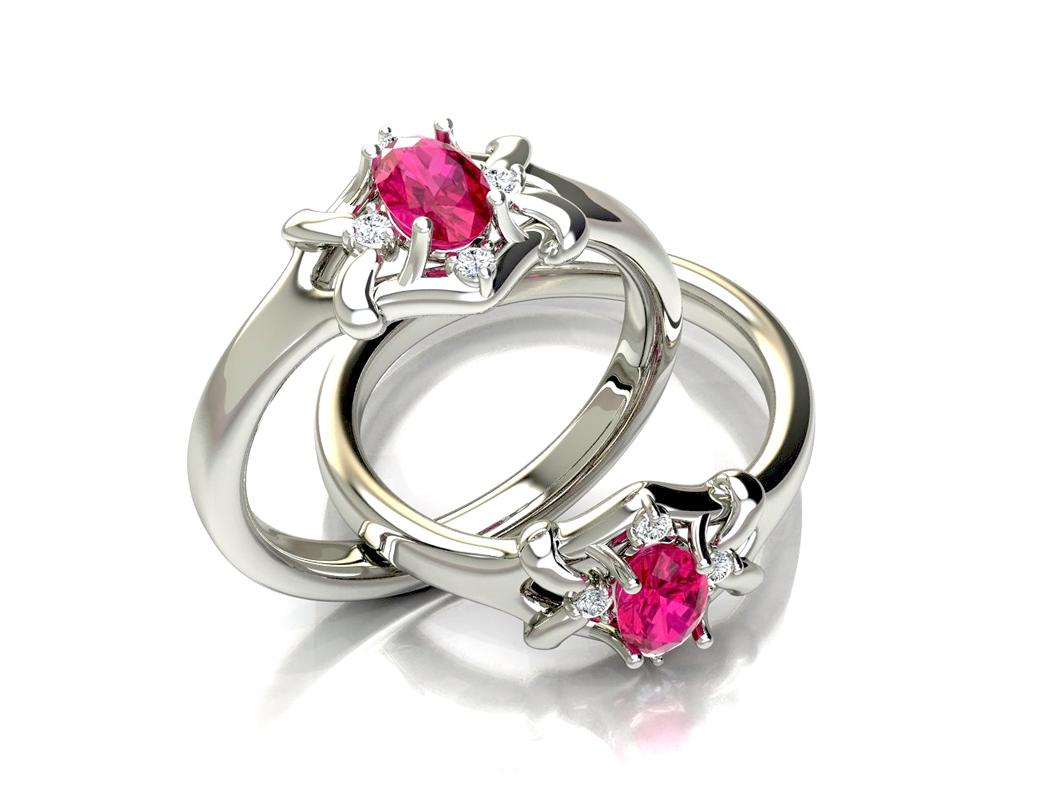 Anel de Formatura com Diamantes Personaliz�vel