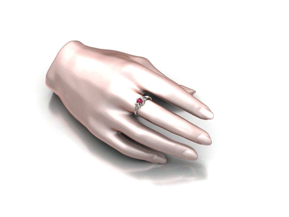 Anel de Formatura com Diamantes Personalizável