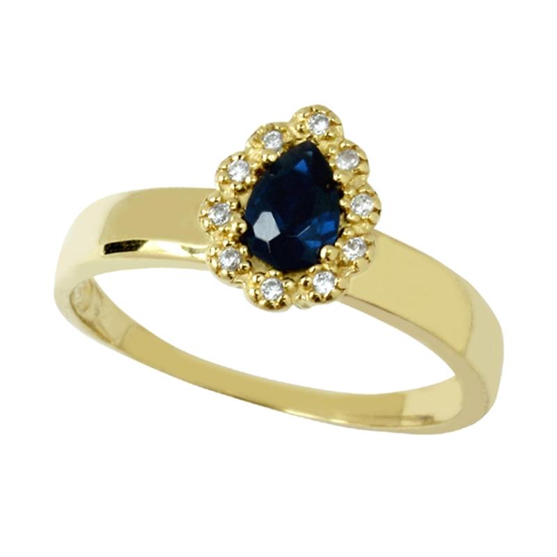 Anel de Formatura Personalizável com Diamantes