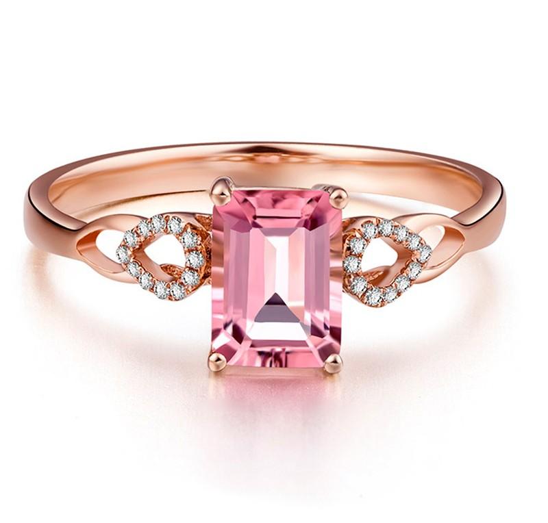 Anel de Formatura Quartzo Rosa Personaliz�vel