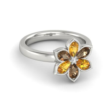 Anel Flores de Turmalina em Ouro Branco