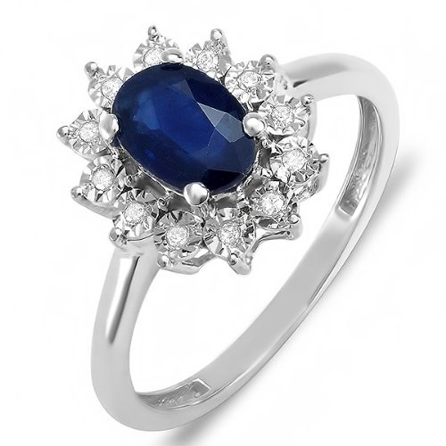 Anel Inglaterra Safira Azul