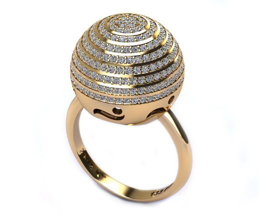 Anel Light Tower com Diamantes