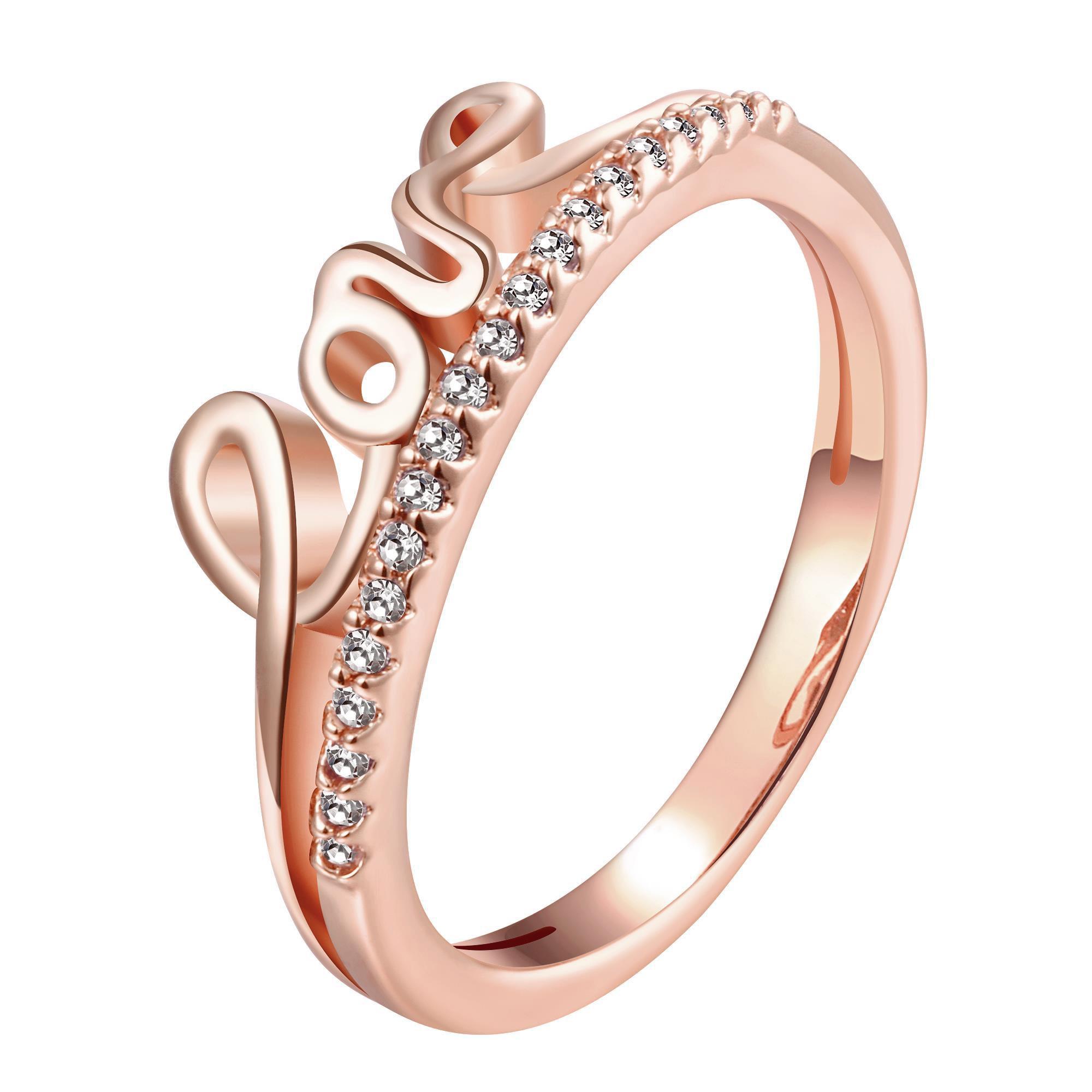 Anel Love em Ouro Rose com Diamantes