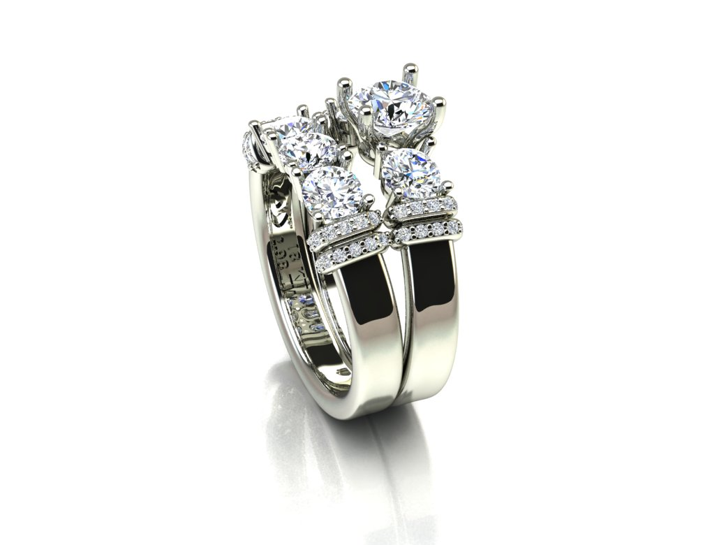 Anel shinning com Diamantes Exclusivo