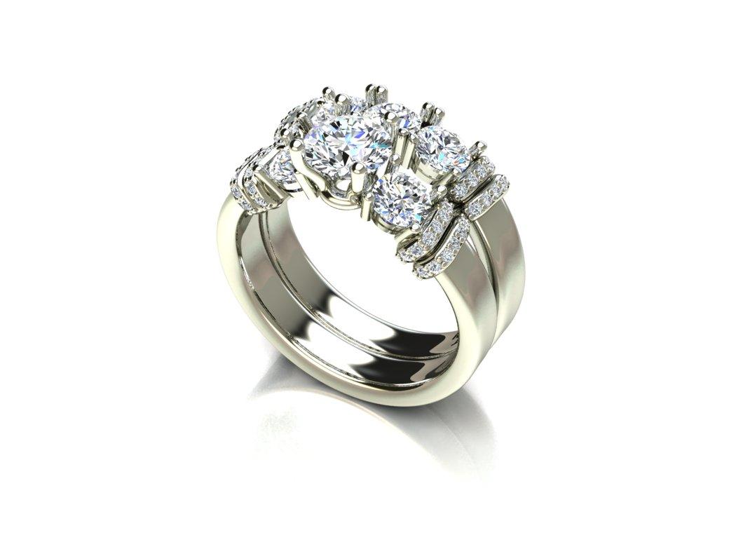 Anel shinning com Diamantes Exclusivo