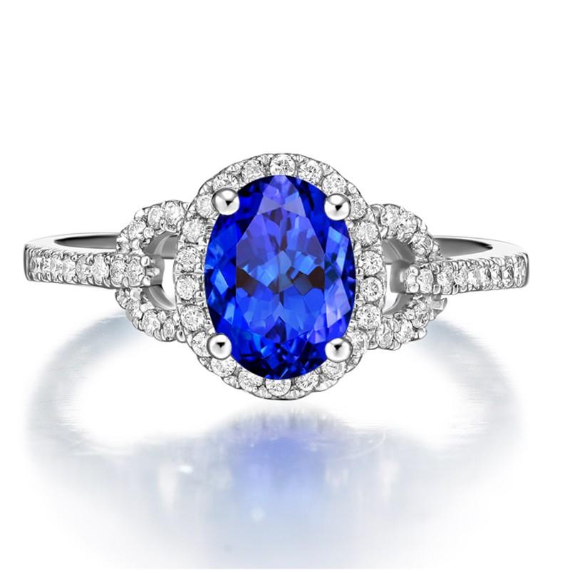 Anel Silk Safira Azul