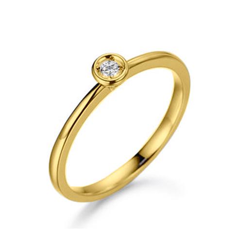 Anel Solit�rio Envolve Diamante