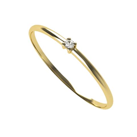 Anel Solit�rio Fine Diamond