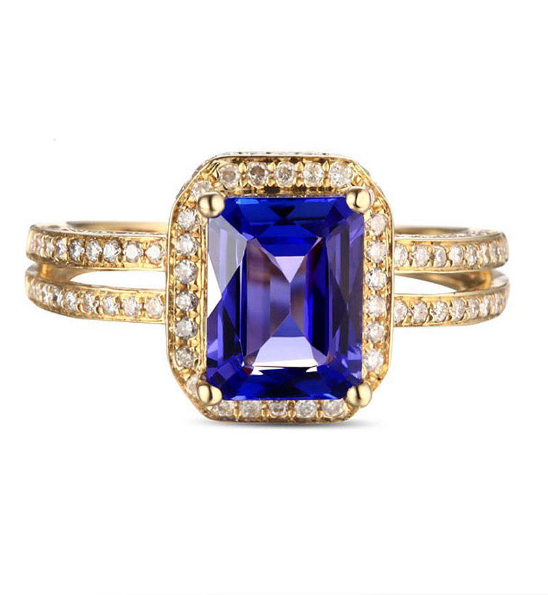 Anel Vintage com Forro Trabalhado Safira Azul