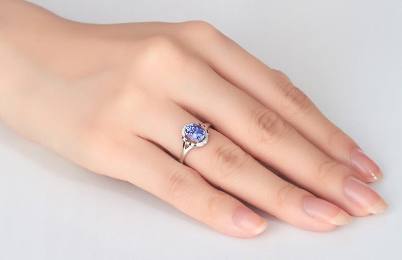 Anel Volve Safira Azul