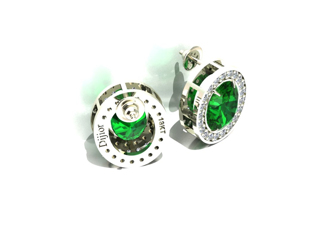 Brinco Green Light Jades e Diamantes